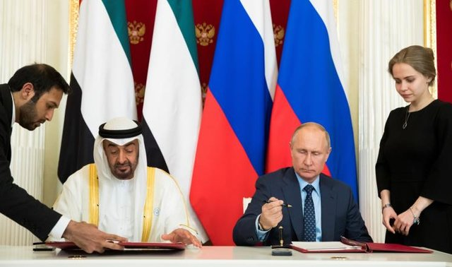 """روسیه و امارات """"سند همکاری راهبردی"""" امضا کردند"""