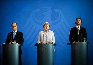 رسانه ها ؛ نشست آلمان، ایتالیا و فرانسه درباره آینده اتحادیه اروپایی و…