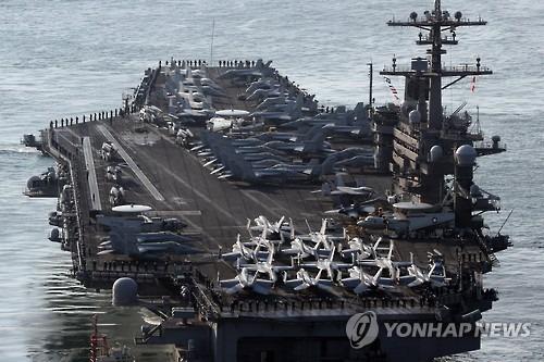 رسانه ها ؛ ناوهواپیمابرآمریکا در راه کره شمالی  و…