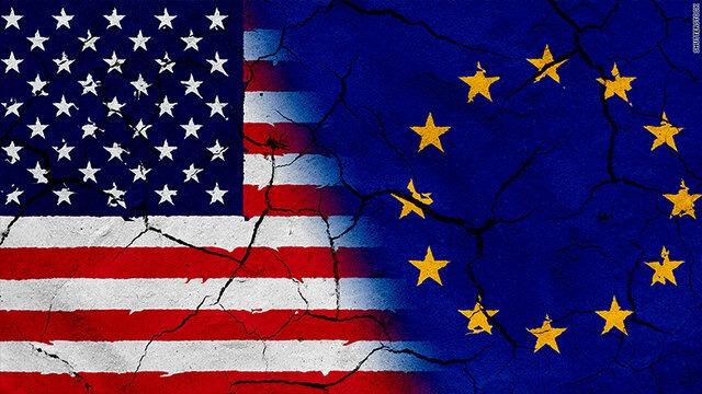 تشدید تنش و اختلاف بین اروپا و آمریکا طی دهه 2020
